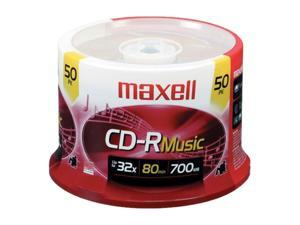 maxell 700MB 32X CD-R 50 Packs Disc Model 625156-CDR80MU50PK