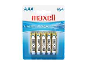 Maxell LR03 10BP AAA Gold Series Alkaline Battery Retail Pack - 10 Pack
