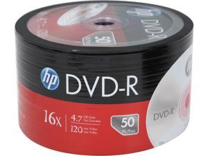 HP 4.7GB 16X DVD-R 50 Packs Disc Model DM00070B