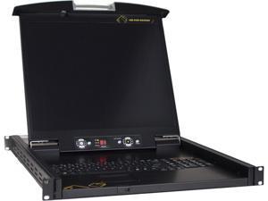 "Athena Power SCK-LKD1916 1U Rackmount Server Console 19"" 16-Port"