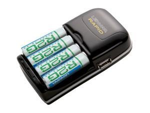 LENMAR R2G804U 4-pack 2150mAh AA Ni-MH Rechargeable Batteries & Charger Kit
