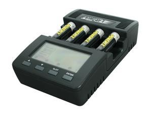 POWEREX MH-C9000 WizardOne Charger-Analyzer w/4pcs 2700mAh AA Rechargeable Batteries