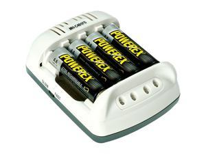POWEREX MH-C401FS4AA27W 100Min Cool Charger w/2700mAh 4AA Batteries (Made in Taiwan)