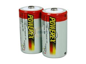 POWEREX MH-2D110 2-Pack 11000mAh Rechargeable D Battery - Pre-charged and Ready-to-use