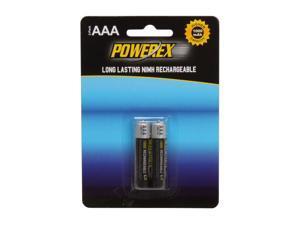 POWEREX MHRAAA2 1000mAh 2-Pack AAA NiMH Rechargeable Batteries