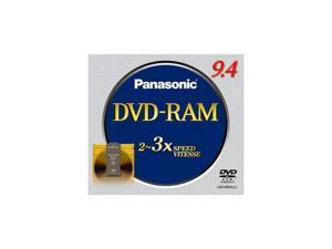Panasonic 9.4GB 3X DVD-RAM Single Double-sided Disc Model LM-HB94LU