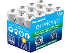 Panasonic BK-3MCCA12SA 12-pack AA eneloop Rechargeable Batteries