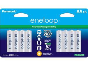 Panasonic Eneloop AA 2000mAh 2100 Cycle Ni-MH Pre-Charged Rechargeable Batteries 16 Pack