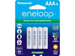 Panasonic Eneloop AAA 800mAh 2100 Cycle Ni-MH Pre-Charged Rechargeable Batteries 4 Pack