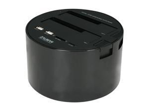 "Zalman ZM-MH200 HUB 2.5"" & 3.5"" Black/White SATA I/II USB 2.0 & eSATA Dual Docking station w/ 2 USB 2.0 hub ports, Integrated SD, SDHC and microSD card reader"