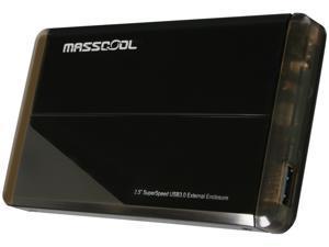 """MASSCOOL UHB-2233 2.5"""" Black SATA I/II USB 3.0 External Enclosure"""