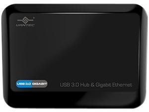 VANTEC UGT-MH330GNA 3-Port USB 3.0 Hub with Gigabit Ethernet Port