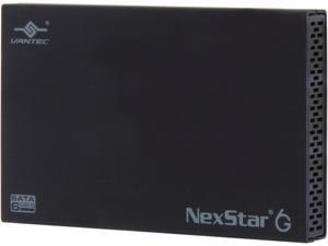 VANTEC NST-266S3-BK 2.5-Inch SATA 6Gb/s to USB 3.0 HDD/SSD Aluminum Enclosure, Black