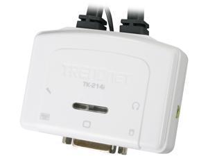 TRENDnet TK-214I 2-Port DVI USB KVM Switch Kit with Audio