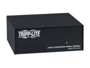 Tripp Lite VGA/SVGA 350MHz Video Splitter - 2 Port (HD15 M/2xF) B114-002-R B114-002-R