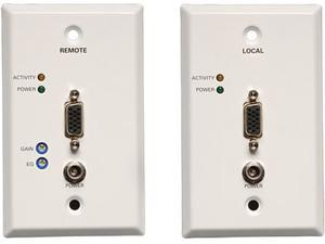 Tripp Lite VGA over Cat5 (RJ45 Type) Extender Wallplate Kit (Transmitter + Receiver) B130-101-WP-1
