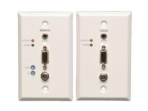 Tripp Lite B130-101A-WP-1 VGA+Audio over Cat5 (RJ45 Type) Extender Wallplate Kit (Transmitter + Receiver)