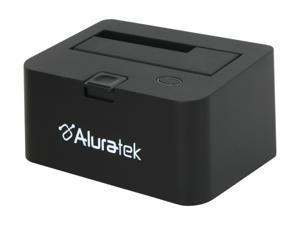 "Aluratek External 2.5"" & 3.5"" Black SuperSpeed USB 3.0 SATA Hard Drive Docking Station Enclosure AUDDU200F"