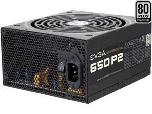 EVGA SuperNOVA 650 P2 220-P2-0650-X1 80+ PLATINUM 650W  Fully Modular  EVGA ECO Mode Includes FREE Power On Self Tester Power Supply