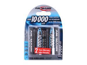 ANSMANN 5030642 2-pack 10000mAh Size D Ni-MH Batteries