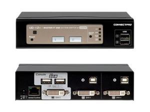 ConnectPRO UD-12+KIT , 2-Port DVI+USB DDM KVM Switch with cables