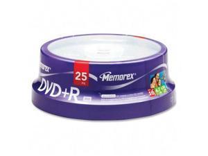 memorex 4.7GB 16X DVD+R 25 Packs Disc Model 05618