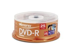 Memorex DVD-R 16x 25PK MMR 4.7 GB Spindle