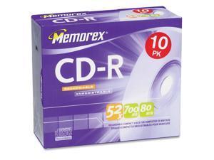 memorex 700MB 52X CD-R 10 Packs Disc Model 04514