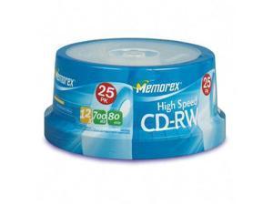 memorex 700MB 12X CD-RW 25 Packs High Speed Disc Model 03424