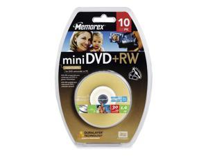 memorex 1.4GB 4X Mini DVD+RW 10 Packs Disc Model 05672