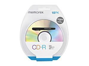 memorex 700MB 52X CD-R 10 Packs Disc Model 04524