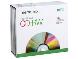 memorex 700MB 12X CD-RW 10 Packs Media Model 3417