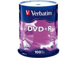 Verbatim 4.7GB 16X DVD+R 100 Packs Disc Model 95098