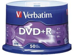 Verbatim 4.7GB 16X DVD+R 50 Packs Disc Model 95037