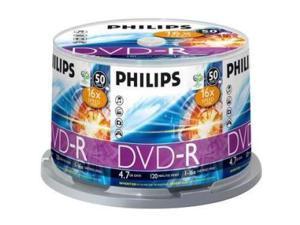 PHILIPS 4.7GB 16X DVD-R 50 Packs Disc Model DM4S6B50F/17