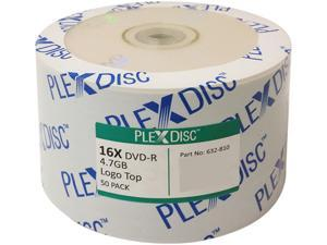 PlexDisc 4.7GB 16X DVD-R 50 Packs Logo Top Disc Model 632-810