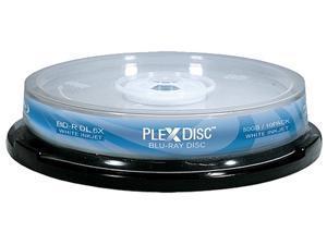 PlexDisc 50GB 6X BD-R DL White Inkjet Hub Printable 10 Packs Disc Model 645-212