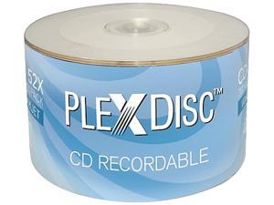 PlexDisc 52x 700MB White Inkjet Hub Printable CD-R 50 Packs Disc Model 641-200