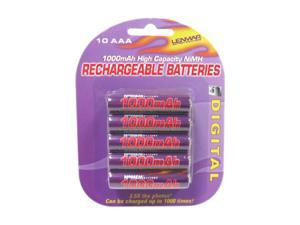 LENMAR PRO1010 10-pack 1000mAh AAA Ni-MH  Rechargeable Batteries