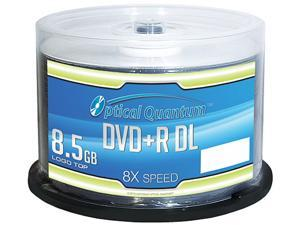 Optical Quantum 8.5GB 8X DVD+R DL 50 Packs Logo Top Disc Model OQDPRDL08LT