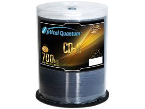 Optical Quantum 700MB 52X CD-R LightScribe 100 Packs Disc Model OQCDR52LS