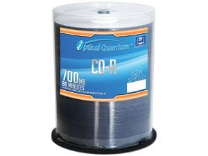 Optical Quantum 700MB 52X CD-R White Inkjet Hub Printable 100 Packs Disc Model OQCD52WIP