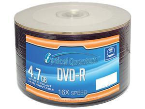 Optical Quantum 4.7GB 16X DVD-R White Inkjet Hub Printable 50 Packs Disc Model OQDMR16WIPH-50SP