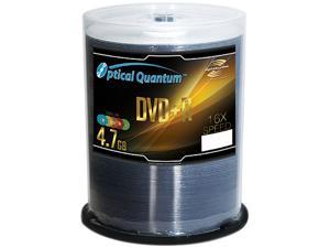 Optical Quantum 4.7GB 16X DVD+R LightScribe 100 Packs Disc Model OQDPR16CRLS