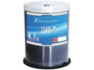 Optical Quantum 4.7GB 16X DVD-R 100 Packs Silver Top Disc Model OQBQDMR16ST