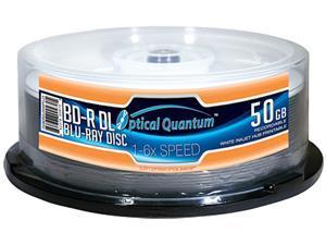 Optical Quantum 50GB 6X BD-R DL White Inkjet Hub Printable 25 Packs Disc Model OQBDRDL06WIPH-25