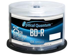 Optical Quantum 25GB 6X BD-R 50 Packs Blu-ray Disc Model OQBDR06ST-50