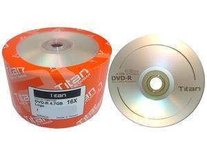 50-Pack Titan T6891192 4.7GB 16x DVD-R Logo Disc