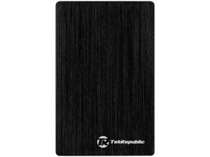 "Tek Republic TUE-300 2.5"" Black Serial ATA USB 3.0 Hard Drive External Enclosure for 9.5mm 7mm HDD and SSD (Optimized for SSD, Support UASP)"