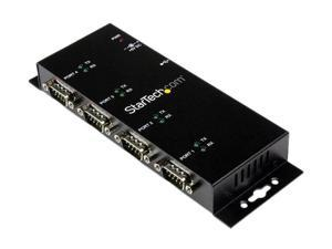 Startech ICUSB2324I 4 Port USB to DB9 RS232 Serial Adapter Hub – Industrial DIN Rail and Wall Mountable